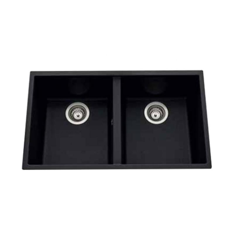 schock de luisina cuve 2bacs 756x430 sous plan noir metal. Black Bedroom Furniture Sets. Home Design Ideas