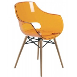 CHAISE CHARLIE ORANGE PIETEMENT HETRE - DE LUISINA