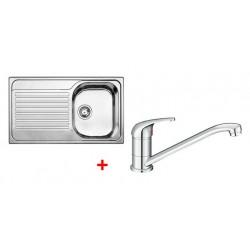 Pack évier BLANCO TIPO 45 S 1 cuve + égouttoir + robinet BLANCO VITIS