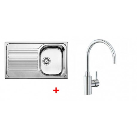 Pack évier BLANCO TIPO 45 S 1 cuve + égouttoir + robinet BLANCO MIDA