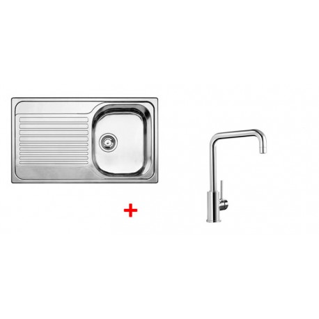 Pack évier BLANCO TIPO 45 S 1 cuve + égouttoir + robinet BLANCO MILI
