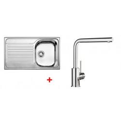 Pack évier BLANCO TIPO 45 S 1 cuve + égouttoir + robinet BLANCO MILA