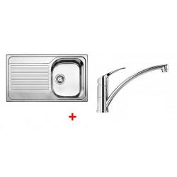 Pack évier BLANCO TIPO 45 S 1 cuve + égouttoir + robinet BLANCO BRAVON