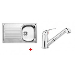 Pack évier BLANCO TIPO 45 S 1 cuve + égouttoir + robinet BLANCO VITIS-S AVEC DOUCHETTE
