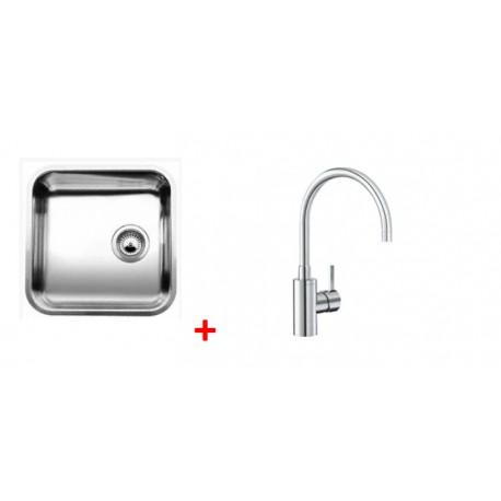 Pack évier BLANCO SUPRA 400-U 1 cuve + robinet BLANCO MIDA