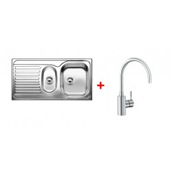 Pack EV BLANCO TIPO 6-S 1 cuve 1/2 + égouttoir + robinet BLANCO MIDA