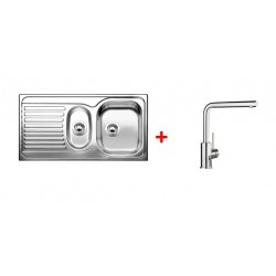 Pack EV BLANCO TIPO 6-S 1 cuve 1/2 + égouttoir + robinet BLANCO MILA