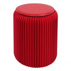 4 tabourets pliable Stooly 42cm rouge