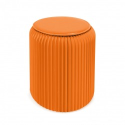 4 tabourets pliable Stooly 42cm orange