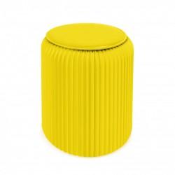 4 tabourets pliable Stooly 42cm jaune