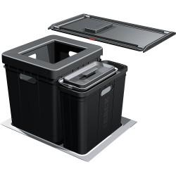 Poubelle tri des déchets 2 bacs volume 45,5L STORTER de FRANKE