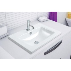 Vasque à encastrer en céramique blanc modèle SYRMA