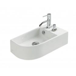 Vasque à suspendre en céramique blanc modèle Naos