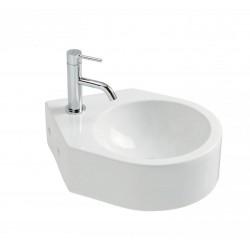 Vasque à suspendre en céramique blanc modèle MIRA