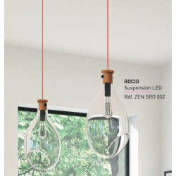 Suspension LED coloris Transparent de luisina