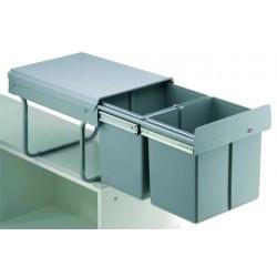 Poubelle coulissante 32 litres pour meuble de 400 mm WESCO