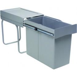 Poubelle coulissante monobac 30 litres sous évier GOLLINUCCI