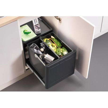 Poubelle tri des déchets automatique 2 bacs 13 + 13 de BLANCO