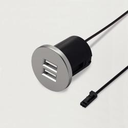 Mini bloc prises USB rond