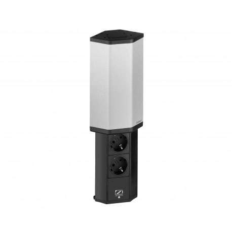 Bloc multiprise 1 USB inox Evoline