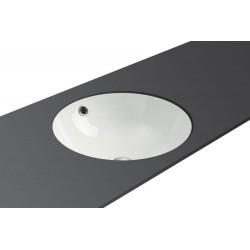 Vasque de salle de bain sous plan Sana en céramique blanc - Ø 370 mm