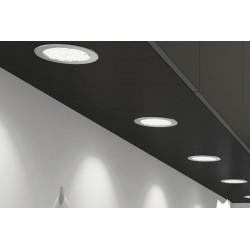 Kit de 3 spot LED 1,6W à encastrer coloris Aluminium