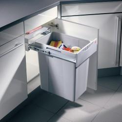 Poubelle tri des déchets coulissante 40L