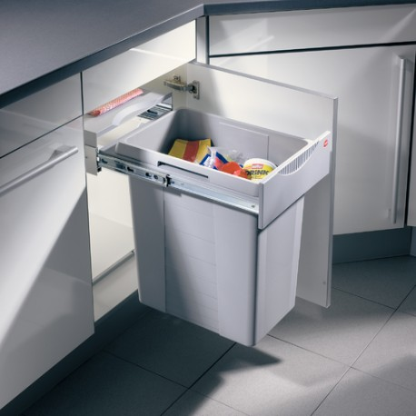 Poubelle tri des déchets coulissante 40L 1 bac