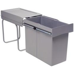 Poubelle tri des déchets coulissante 30L monobac