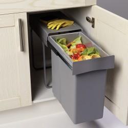 Poubelle tri des déchets coulissante 40L monobac