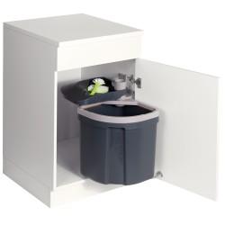 Poubelle monobac 35 litres modèle automatique pivotante