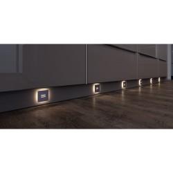 Spot LED d´ambiance en applique 12 V INOX