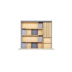 Range-couverts en bois de chêne pour tiroir de 600 mm