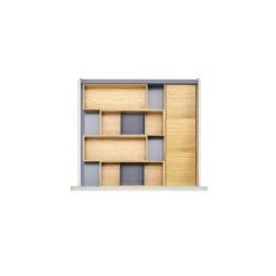 Range-couverts en bois pour tiroir de 600 mm