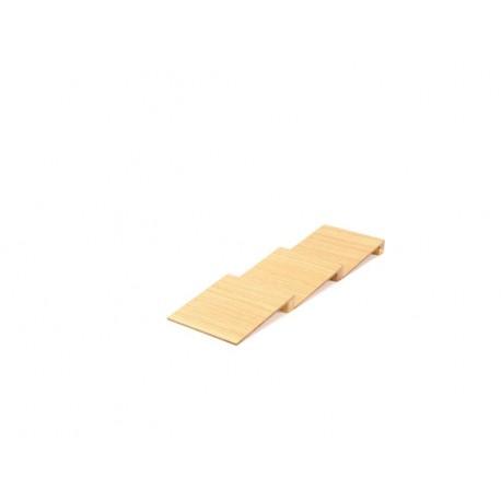 Insert porte-épices incliné en 3 pièces en bois pour tiroir Modulo