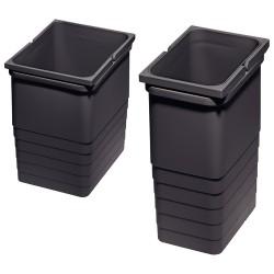 Seaux poubelles pour tiroirs anthracite 8L