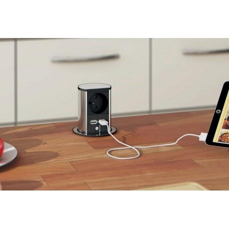 Prise rétractable automatique 1 prise et 2 prises USB de luisina