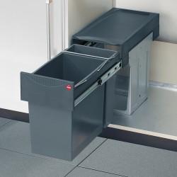 Poubelle tri des déchets ouverture manuelle coulissante 31L