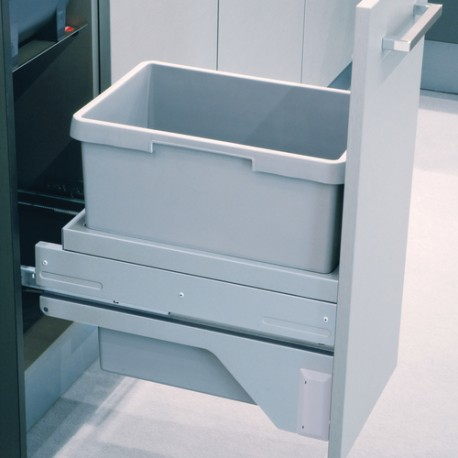 Poubelle tri des déchets suspendue à ouverture manuelle coulissante 30L