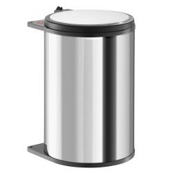 Poubelle tri des déchets ouverture manuelle coulissante monobac 20L