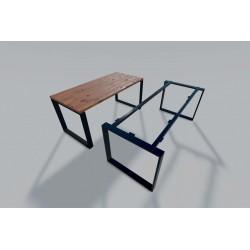 Structure de table ajustable en acier noir - Plato de Luisina