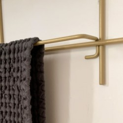 Porte serviette en acier cuisine et sdb 40cm ou 60cm