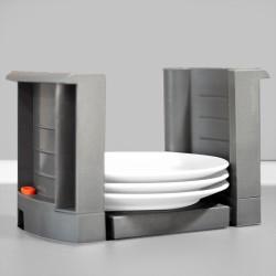 Porte-assiettes extensible, réglable 187 - 308 mm, Plastique, Gris