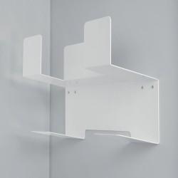 Support balais 2 balais-serpillères pour meuble de 600 mm - Hailo (Livraison gratuite)