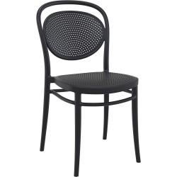 Chaise Gaston avec assise et piètement polypropylène noir de Luisina