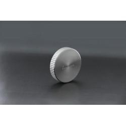 Manette évier pour vidage automatique ronde cannelée coloris inox - Luisina