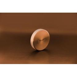 Manette évier pour vidage automatique ronde cannelée coloris cuivre - Luisina