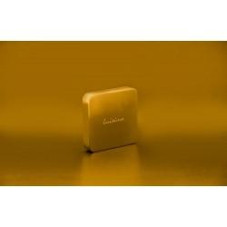 Manette évier pour vidage automatique carrée coloris or - Luisina