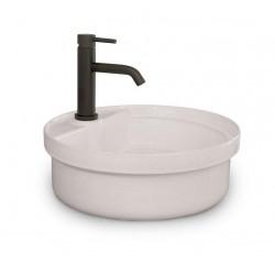 Vasque à encastrer ou à poser Buelna en porcelaine - Ø 410 mm de Luisina