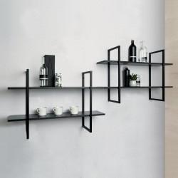 Cadre d'étagère Smart hauteur 780 mm murale prêts à poser finition noir mat